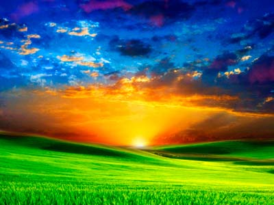 a colorful sunrise is delicious visual content