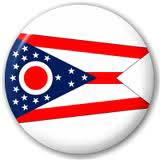 Ohio Flag Button