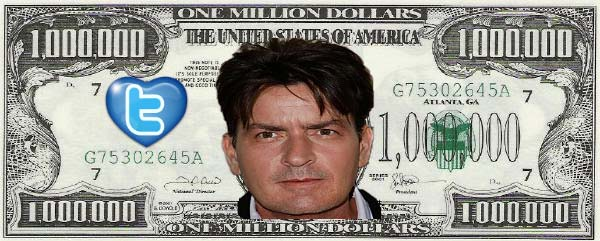 Is Charlie Sheen really winning millions of dollars?
