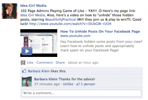 Idea Girl Media shows how to use the Facebook Tagging feature