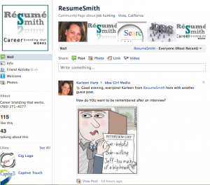 Idea Girl Media announced ResumeSmith as a Grand Prize Winner of Pre-Holiday Facebook: Game Of Like