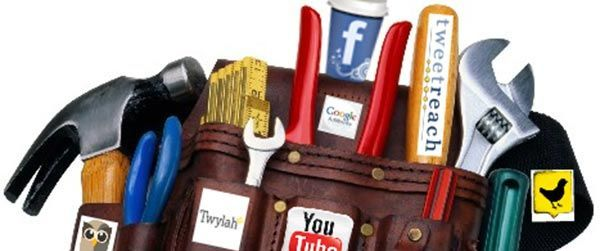 Tool belt with social media icons