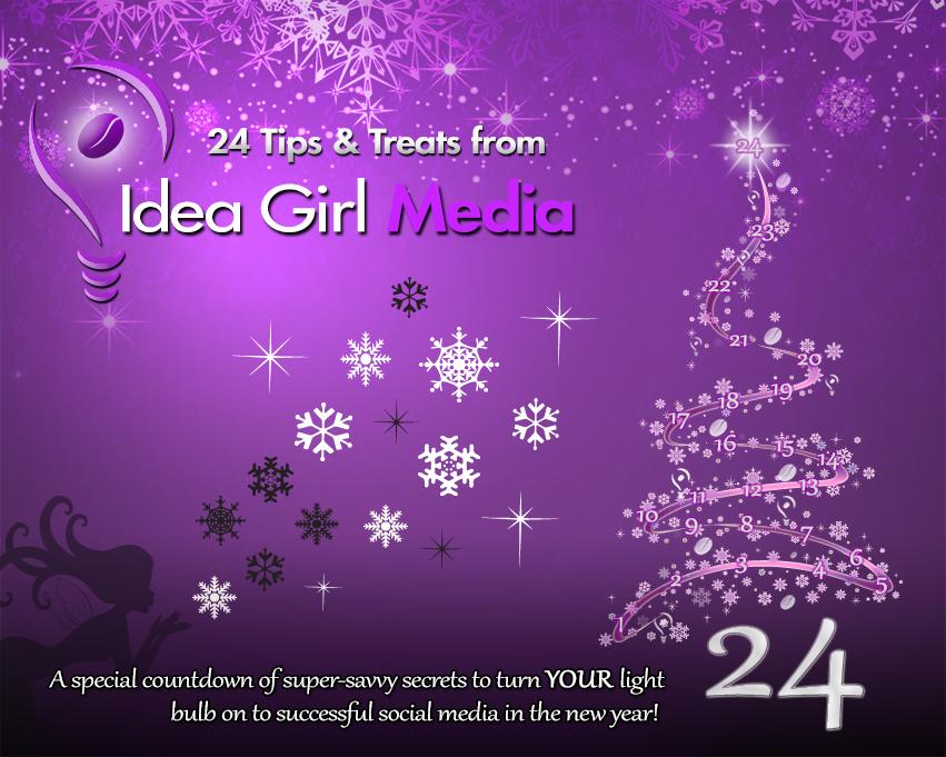Facebook Advent Calendar countdown of social media tips & treats - 2012