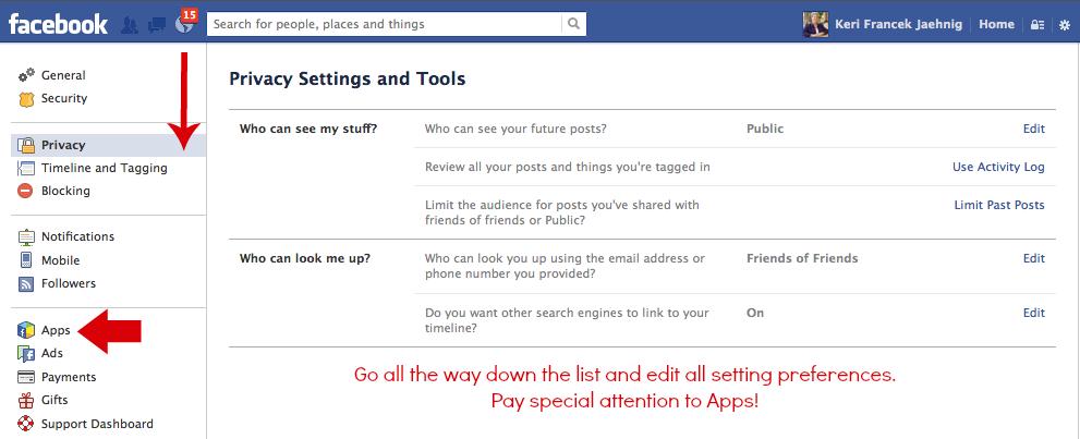 Check all Faceboo privacy settings when preparing for Facebook's Graph Search, explains Keri Jaehnig of Idea Girl Media