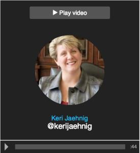 Idea Girl Media's Keri Jaehnig on Vizify Twitter Video