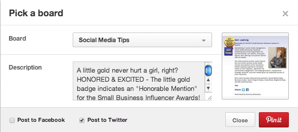 Pinterest Guidelines for Social Business as described by Keri Jaehnig of Idea Girl Media
