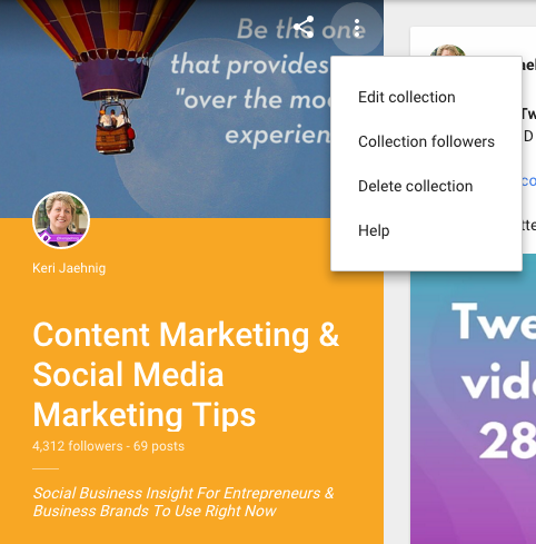 Keri Jaehnig of Idea Girl Media explains you should curate Collections on Google+ for social media success