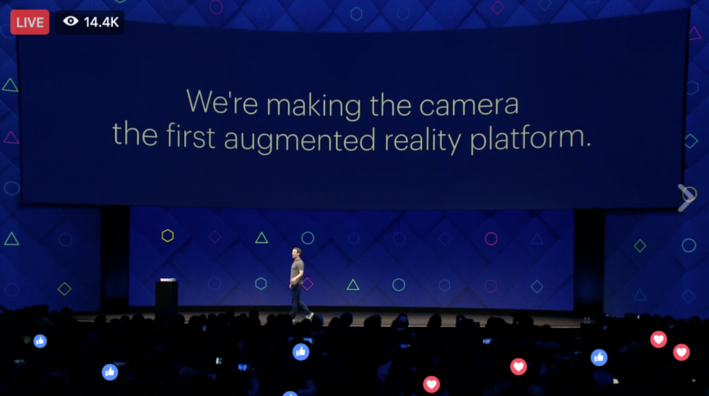 Keri Jaehnig at Idea Girl Media Outlines Augmented Reality at Facebook f8 2017