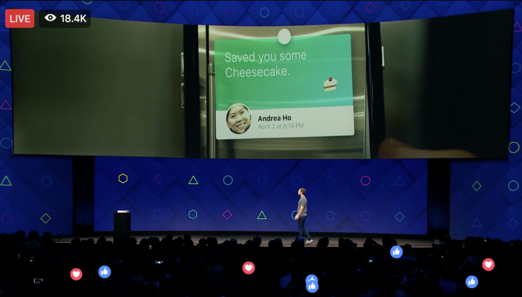 Keri Jaehnig at Idea Girl Media Covered Information In Augmented Reality at Facebook f8 2017