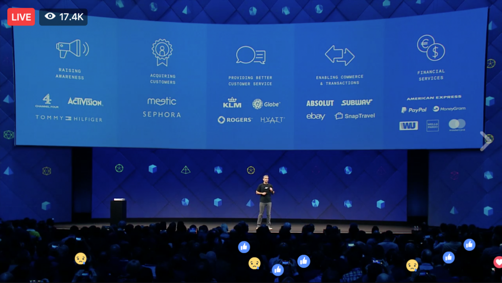 Keri Jaehnig at Idea Girl Media outlines Facebook Messenger Developments Announced At Facebook f8 2017