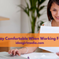 How To Stay Comfortable When Working From Home - Tips outlined at Idea Girl Media