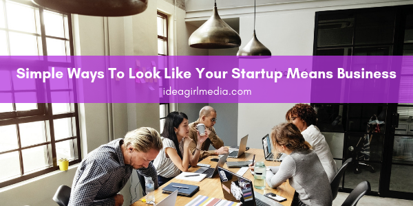 Simple Ways To Look Like Your Startup Means Business listed for you at Idea Girl Media
