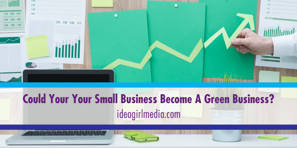 Idea Girl Media answers the question: Could Your Your Small Business Become A Green Business?