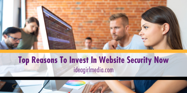 Top Reasons To Invest In Website Security Now listed at Idea Girl Media