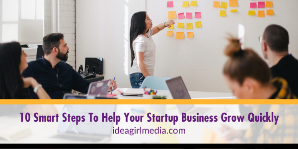 Ten Smart Steps To Help Your Startup Business Grow Quickly explained in detail at Idea Girl Media