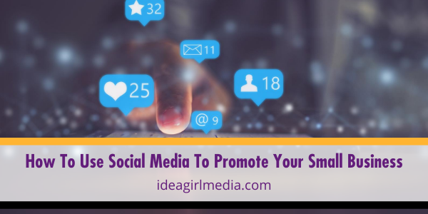 How To Use Social Media To Promote Your Small Business outlined at Idea Girl Media