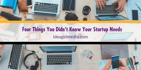 Four Things You Didn't Know Your Startup Needs listed at Idea Girl Media