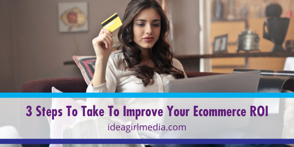 Three Steps To Take To Improve Your Ecommerce ROI explained at Idea Girl Media