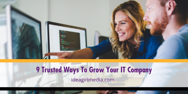 Nine Trusted Ways To Grow Your IT Company mapped out by Idea Girl Media