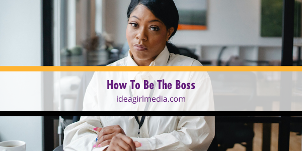 How To Be The Boss outlined at Idea Girl Media
