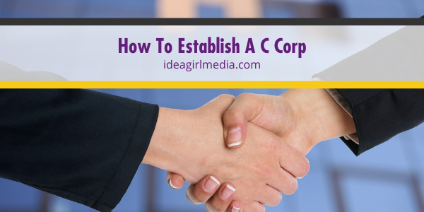 How To Establish A C Corp outlined simply at Idea Girl Media