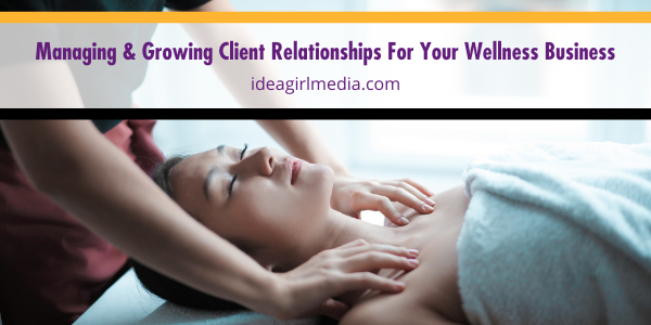 Managing And Growing Client Relationships For Your Wellness Business - the steps spelled out at Idea Girl Media
