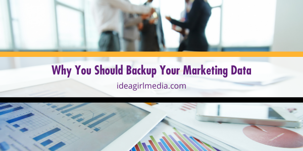 Why You Should Backup Your Marketing Data outlined at Idea Girl Media