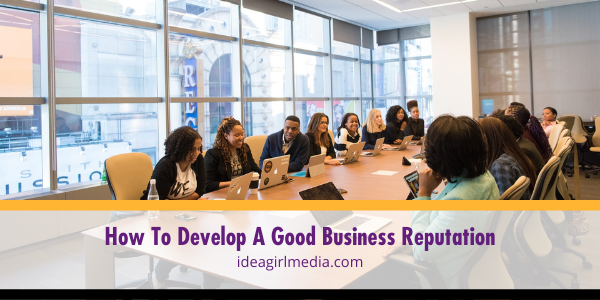 How To Develop A Good Business Reputation explained at Idea Girl Media