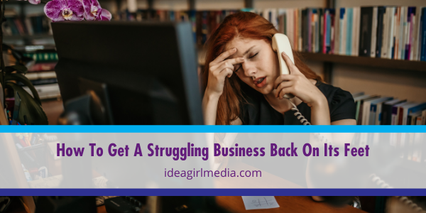How To Get A Struggling Business Back On Its Feet explained at Idea Girl Media