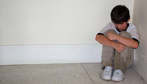 Sad boy potentially the victim of abuse, report Facebook profiles if you're in doubt