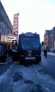 Idea Girl Media catches a glimpse of Glenn Beck's bus outside the Murphy Theatre in Wilmington, Ohio