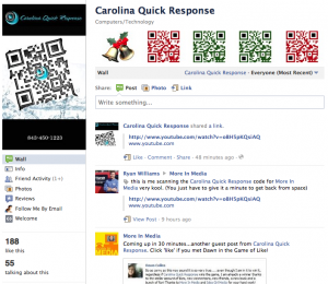 Idea Girl Media announces Carolina Quick Response as a Grand Prize winner of Pre-Holiday Facebook: Game Of LIke