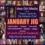 Keri Jaehnig of Idea Girl Media encourages social spotlight with the January Jig Facebook Event
