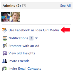 Using Facebook Pages As Your Brand Name is explained by Idea Girl Media