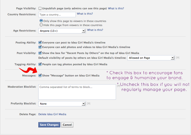 how to add a message button on facebook ad