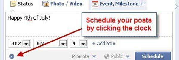 Idea Girl Media explains the new Facebook Scheduling Feature, 2012