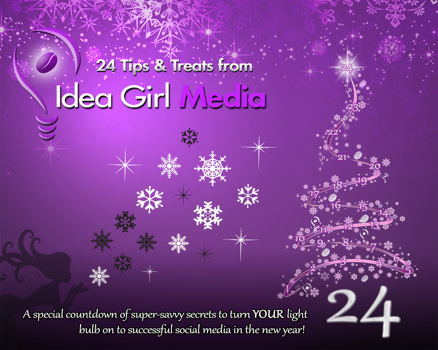 Facebook Advent Calendar countdown of social media tips & treats - 2012