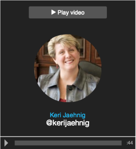 Idea Girl Media's Keri Jaehnig on Vizify Twitter Video
