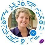 Idea Girl Media Facebook Messenger Scan Code via Keri Jaehnig, the CMO