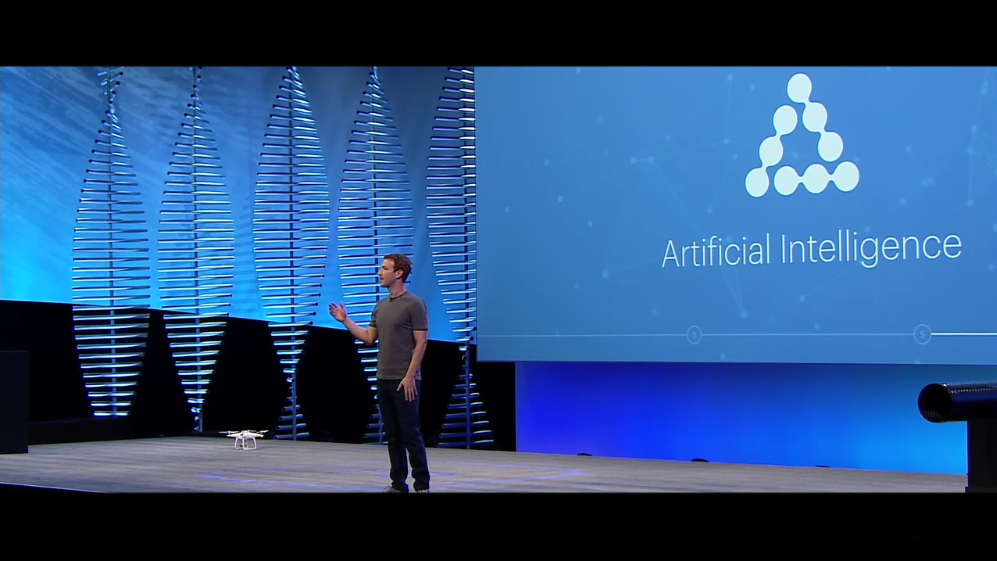 Keri Jaehnig shares about Artificial Intelligence & Drones at f8 Facebook Developer Conference 2016 for Idea Girl Media