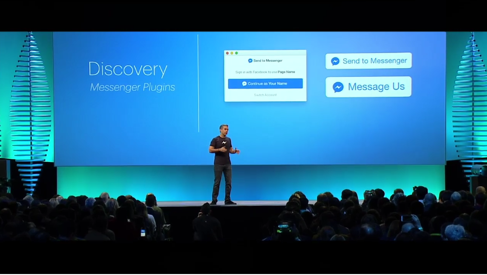 Keri Jaehnig showcased Facebook Messenger Plugins Announced at f8 Facebook Developer Conference 2016 for Idea Girl Media