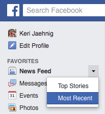 Keri Jaehnig explains how to Secure Your Facebook News Feed Settings at the Idea Girl Media blog