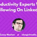 Casey Meehan outlines 10 Productivity Experts Worth Following On LinkedIn at Idea Girl Media