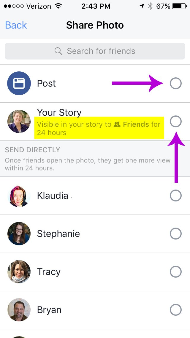 Facebook Stories Post View