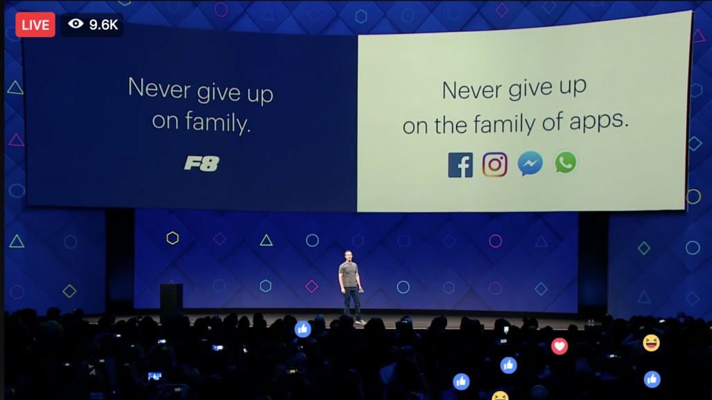 Facebook f8 2017 - Facebook Family Of Apps as explained by Keri Jaehnig at Idea Girl Media
