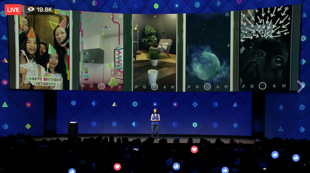 Idea Girl Media showcased The Camera Effects Platform at Facebook f8 2017, outlined by Keri Jaehnig