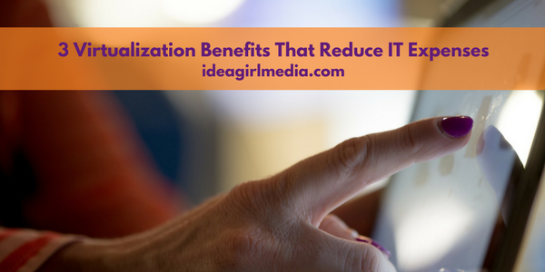 Three Virtualization Benefits That Reduce IT Expenses outlined at Idea Girl Media