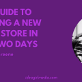 Your Guide To Branding A New Online Store In Only Two Days outlined by Victoria Greene at Idea Girl Media