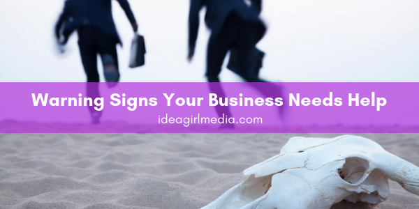 Warning Signs Your Business Needs Help outlined helpfully at Idea Girl Media