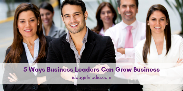 Five Ways Business Leaders Can Grow Business listed for you at Idea Girl Media